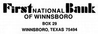 First National Bank of Winnsboro